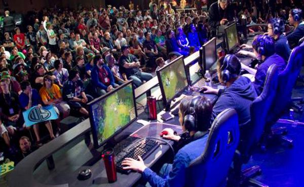 Fans Watch a League of Legends Tournament on a Raised Access Floor Platform