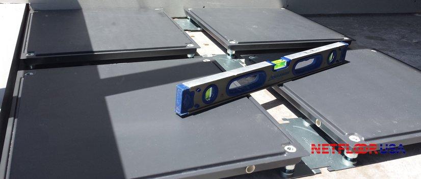 Netfloor USA CamassCrete - How to Adjust Level and Height on a Raised Floor