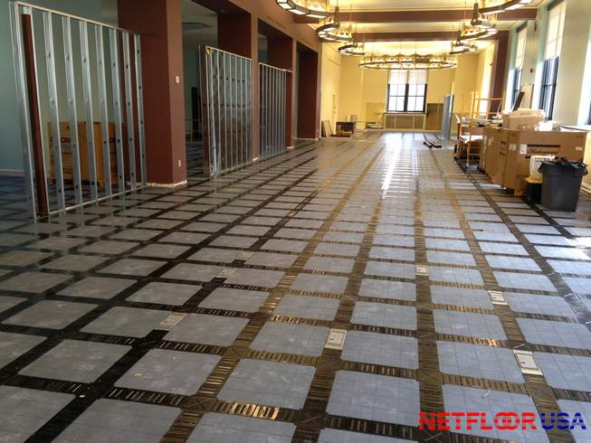 Access Flooring Rapid Office Technology Deployment